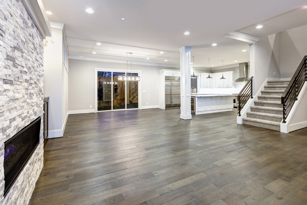 Hardwood Flooring Living Room Walnut Open E Lighting