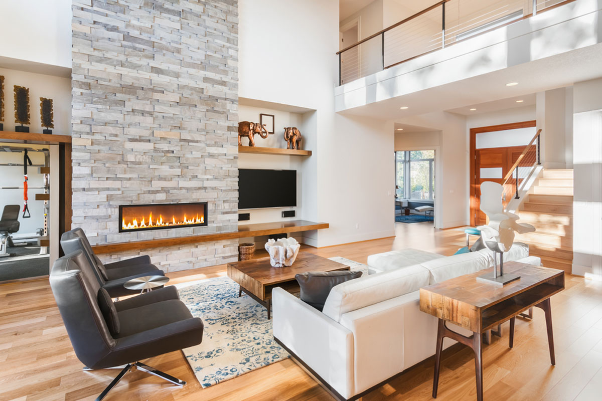 2021 Fireplace Installation Costs Gas Wood Burning Electric