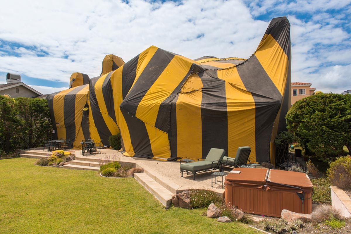 Termite Tenting A Home For Fumigation Treatment & 2019 Termite Treatment Cost | Average Cost of Tenting u0026 Control