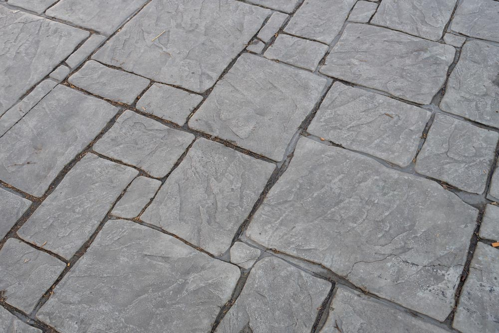 Concrete Patio Engraved Brick