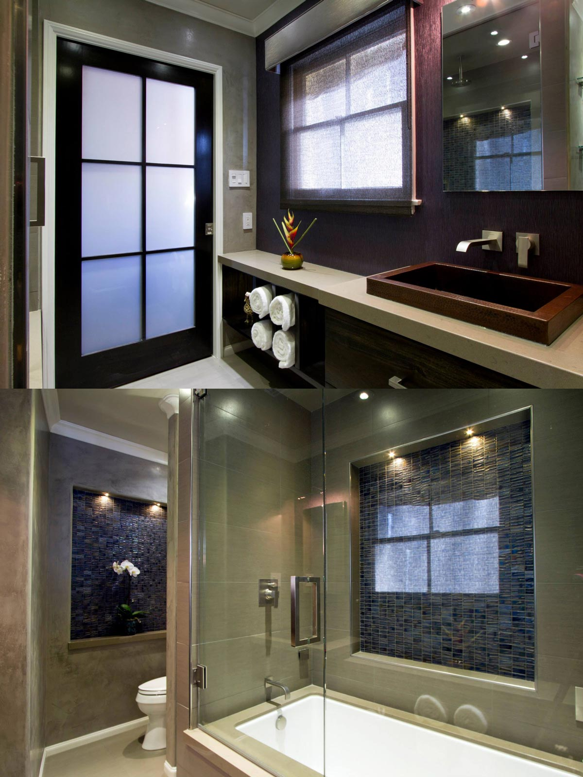 Custom Designed Bathroom Remodel - Plumbing Upgrades and Custom Cabinetry