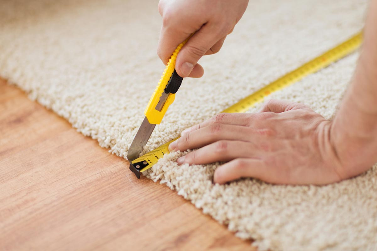 Carpet Cutting And Removal Process