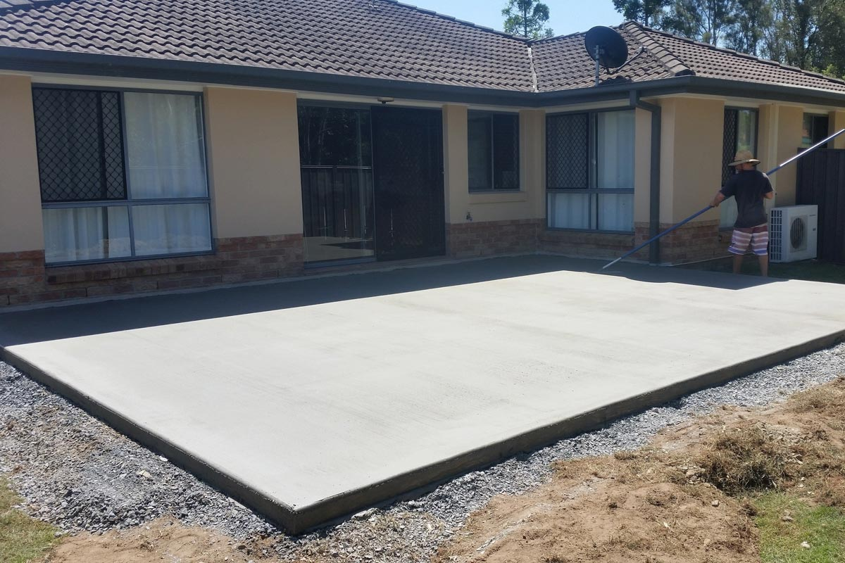 Finishing A 12x120 Reinforced Concrete Slab With Professional Installation