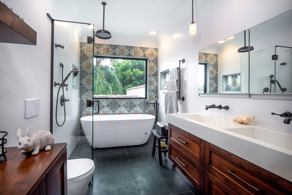Full Master Bathroom Remodel With Plumbing Relocation, Custom Design & Cabinetry.
