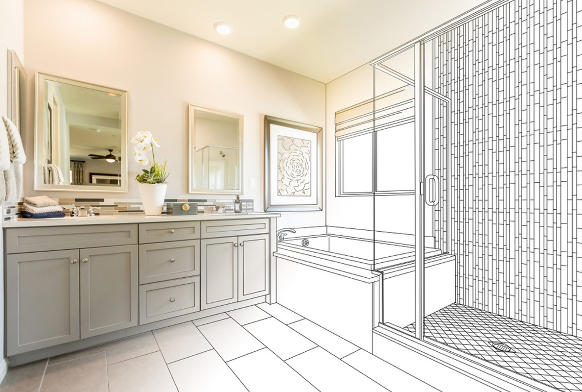Planning To Build A New Bathroom Addition Drawing and Rendering