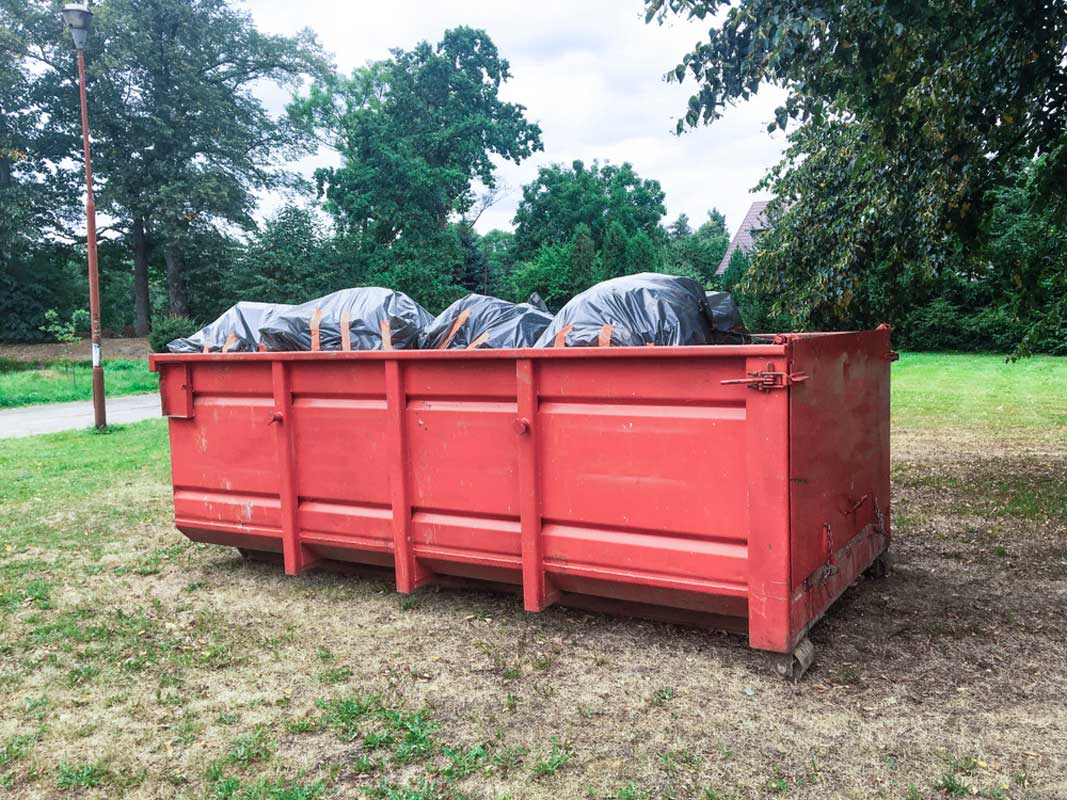 Small 15 Yard Dumpster Rental For Residential Trash Removal Project