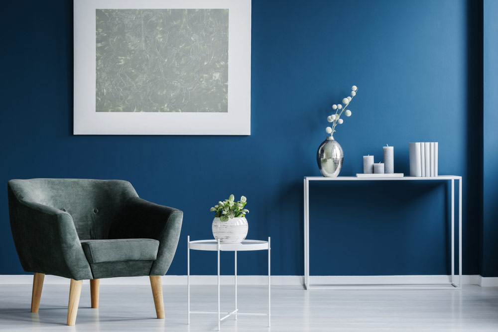 Interior Painting Dark Blue Living Room