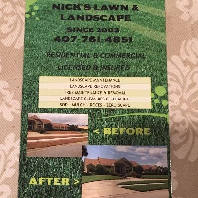 Nick S Lawn Amp Landscape In Sanford Fl Homeguide